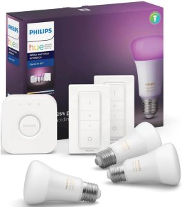 Hue White and Color Ambiance A60 E27 10W BT Startsett 3-pack