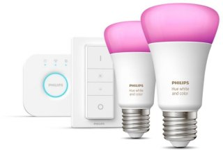 Hue White and Color Ambiance A60 E27 806lm Startsett 2-pack