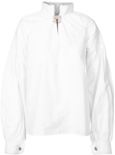 Pascal strykefri bunadskjorte med nuppereller