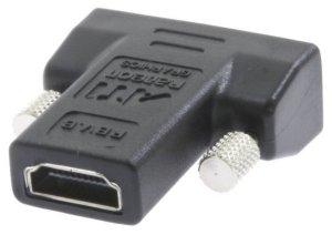HDMI adapter, HDMI hun - DVI D han