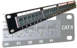 24 port Patchepanel 19'' Cat6 UTP
