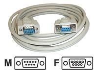 AESP Seriell forlengerkabel M/F 5m DB9 (9-pin)