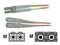 AESP Patchkabel Fiber LC/SC 1m Multimode, duplex, 62,5/125µm