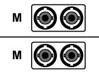 AESP Patchkabel Fiber ST/ST 1m Multimode, duplex, 62,5/125µm