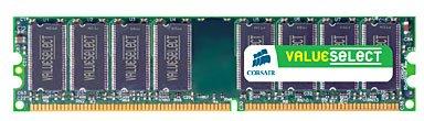 Corsair ValueSelect DDR 400MHz 1GB CL3 (1x1GB)