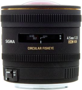 Sigma 4.5mm f/2.8 EX DC Circular Fisheye HSM for Canon
