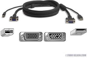 Belkin Omniview Pro2 Series KVM Kabel USB 1.8m
