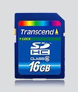 Transcend SDHC Class 6 - 16 GB