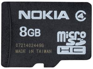 Nokia 8 GB microSDHC MU-43