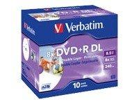 Verbatim DVD+R 8xDouble Layer 8,5 GB Printable 10 stk.