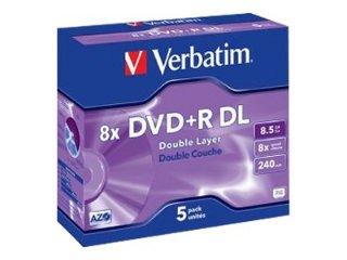 Verbatim DVD+R 8x  Double Layer 8,5 GB 5 stk.