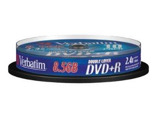 Verbatim DVD+R 2,4x Double Layer 8,5 GB 10 stk