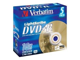 Verbatim DVD+R 16x  LightScribe 5 stk