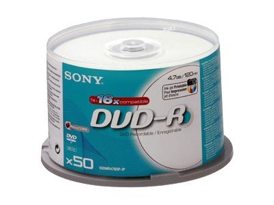 Sony 16x DVD-R 50 stk. Printable