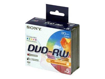 Sony 8CM DVD-RW 5 stk.