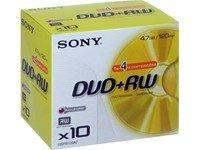 Sony 4x DVD+RW 10 stk.