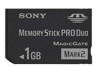 Sony Memory Stick Pro Duo 1 GB støtter AVCHD recording