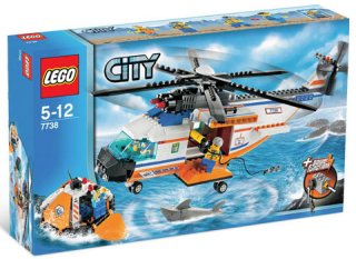 LEGO City Kystvaktens helikopter og redningsflåte
