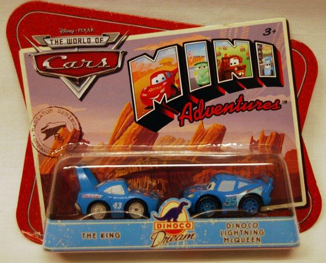 Biler - 2 pk. mini cars Kongen og Lynet Mcqueen