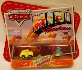 Biler - 2 pk. mini cars. Luigi og Guido