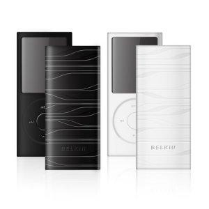 Belkin Sonic Wave Silicone Sleeve for iPod Nano 4G Bk/W (2pk)