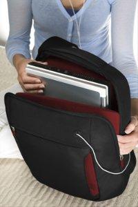 Belkin Slim Back Pack Jet/Cabernet