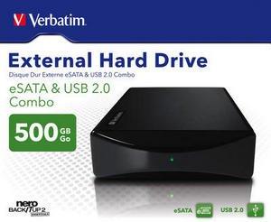 Verbatim External Hard Drive 500 GB USB & eSATA