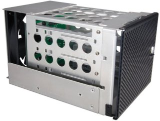 Lian Li EX-H34B drevramme m/ vifte og filter, Hot Swap 4 stk. HDD