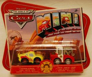 Cars 2 pk. mini cars. Bill og Lynet Mcqueen