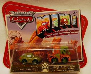 Biler - 2 pk. mini cars. Sally og Bill