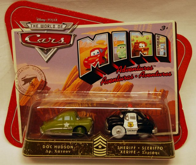 Biler - 2 pk. mini cars. Sersjanten og sjeriffen