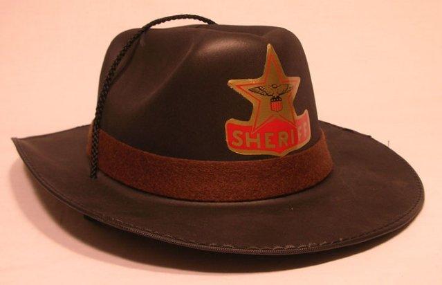 Cowboy hatt sort