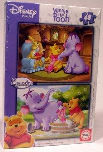 Disney Toys Heffalompen Puslespill 2 x 48 brikker