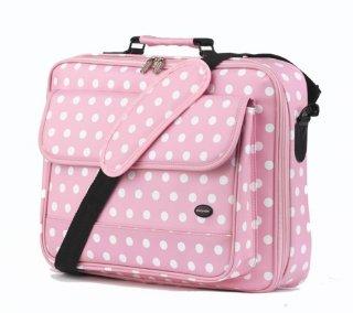 Oliepops Pink Polka Laptop Case for 15-17