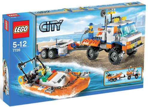 LEGO City Kystvaktlastebil med speedbåt
