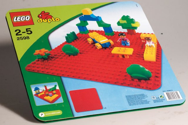 LEGO Duplo Stor byggeplate rød