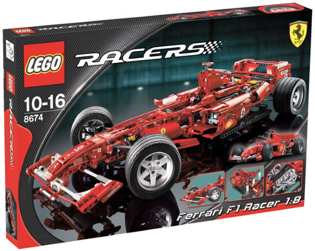 LEGO Racers Ferrari Formel 1 Skala 1:8