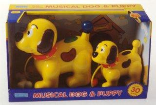 Musikk hund med valp