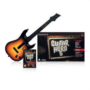Guitar Hero 5 (med gitar) til Wii