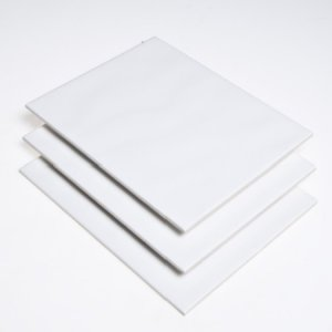 White Ripple Glossy 20x25