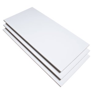 White Glossy Rectified 30X60