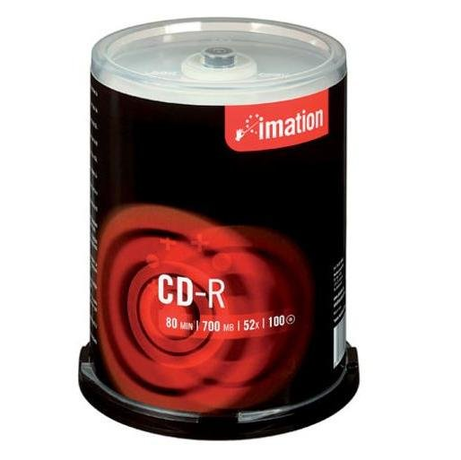 Imation CD-R 52x 80 min. 100 stk. Spindle