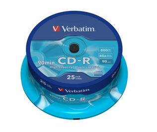 Verbatim CD-R 40x 800MB 25 stk. Spindle