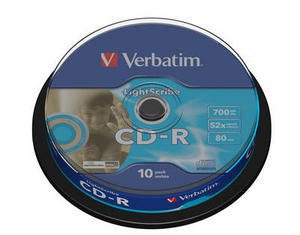 Verbatim CD-R 52x LightScribe 10 stk