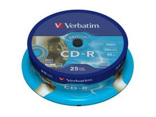 Verbatim CD-R DataLifePlus 52X LightScribe 25 stk.