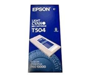 Epson T504 Lys Cyan