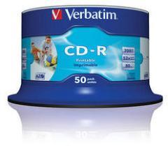 Verbatim CD-R 52 700MB Wide Printable 50 stk.