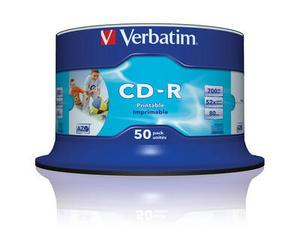Verbatim CD-R 52 700MB Wide Printable 50 stk.