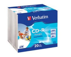 Verbatim CD-R 52X Foto Prinable 20 stk.