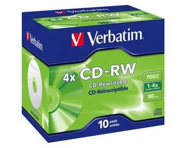 Verbatim CD-RW 4X 10 stk.